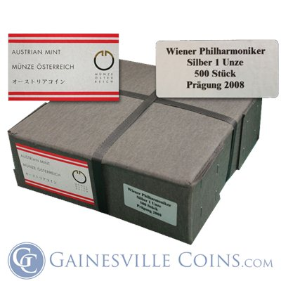 2012 1 oz Austrian Philharmonic Silver .999 Fine Monster Box of 500!