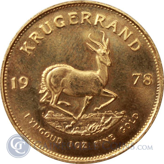 Image Showcase for 1 oz South African Gold Krugerrand - Random Dates