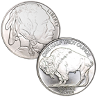 1/2 oz American Buffalo Silver Round .999 Pure Silver