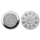2011 Mexico Aztec Calendar 1 Kilo Silver Proof-Like Coin