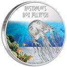 Australia's Box Jellyfish 2011 1 oz Silver Proof Coin: Deadly and Dangerous Series By Perth Mint
