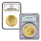 $20 Gold Liberty Double Eagle - (NGC/PCGS MS-62) - Random Date