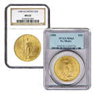 $20 Saint-Gaudens Gold Double Eagle (NGC/PCGS MS-63) Random Date