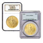 $20 Saint Gaudens Gold Double Eagle (NGC/PCGS MS-64) Random Date