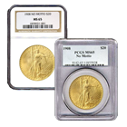 $20 St. Gaudens Gold Double Eagle Coins (NGC/PCGS MS-65) - Random Date