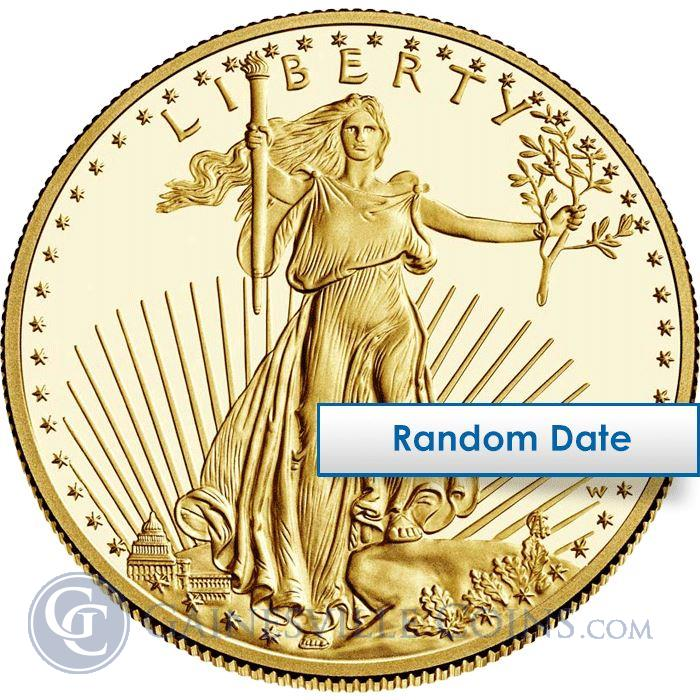 Image Showcase for 1/2 Oz American Gold Eagle Coin $25 (Random Date)