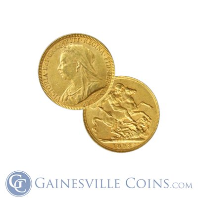 Gold British Sovereign - (.2354 oz of Gold)