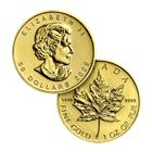"1 Oz Canadian Maple Leaf $50 Gold Coins  Dates of our Choice 24k (Heavily Scratched ""Scruffy"")"