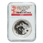2012 1 oz Year of the Dragon Perth Mint Silver Coin MS 69 Early Release