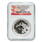 2012 Australia 1 oz Silver Dragon NGC MS70 Early Release (Series 2)