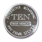 10 oz Sunshine Minting Silver Round .999 Fine 