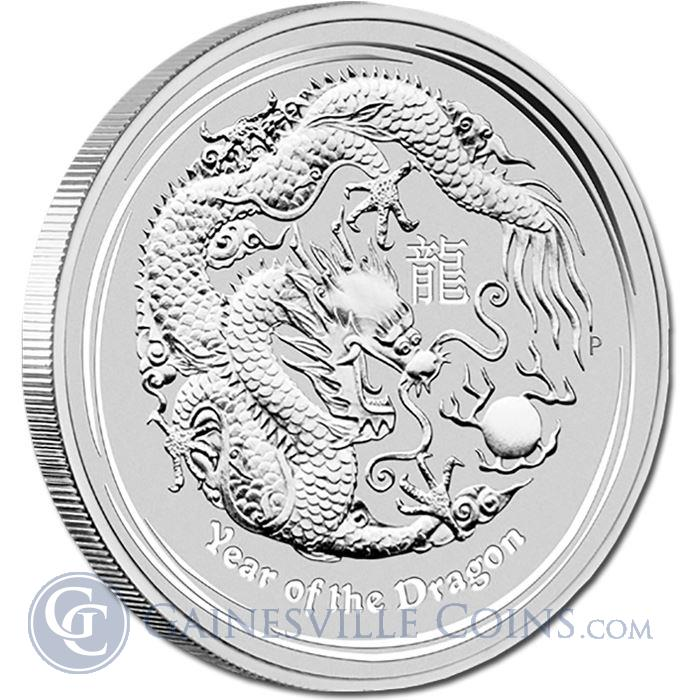 Image Showcase for 2012 10 oz Silver Perth Mint Year of the Dragon Coin