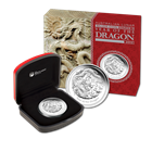 2012 Lunar Year of the Dragon 1 oz Proof Silver Coin Perth Mint