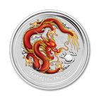 2012 Year of the Dragon Gemstone Eye- 1 Kilo Silver Coin