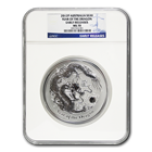 2012 Year of the Dragon 1 Kilo Silver Coin NGC MS70 Early Release (Series 2)