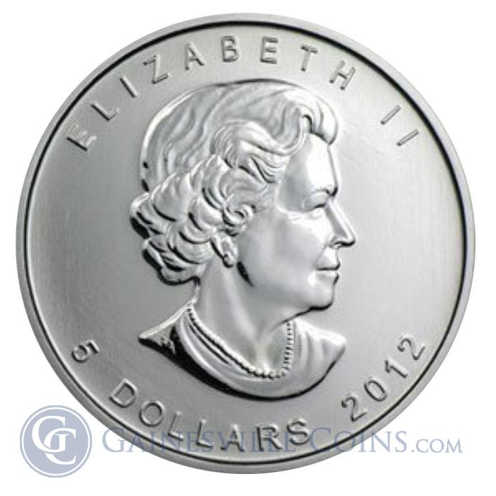 Image Showcase for 2012 Canadian Silver Maple Leaf 1 oz Coin. (Brilliant Uncirculated)