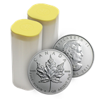 2012 1 oz Canadian Maple Leaf Mint tube of 25 Silver Coins .9999 Fine! (Brilliant Uncirculated)