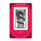1 oz PAMP Suisse Lunar Dragon Silver Bar