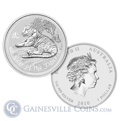 2010 1 oz Silver Australian Year of the Tiger Coin (Series 2)