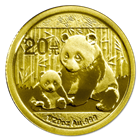 2012 1/20 oz Gold Chinese Panda Coins (Sealed In Original Mint Plastic)