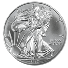 2012 1 oz  American Silver Eagle Coins: Brilliant Uncirculated Condition
