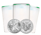 2012 1 oz American Silver Eagle Roll of 20 Coins: Brilliant Uncirculated Condition