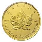 2012 1/2 oz Gold Canadian Maple Leaf Coins