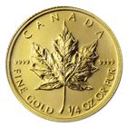 2012 1/4 oz Gold Canadian Maple Leaf Coins