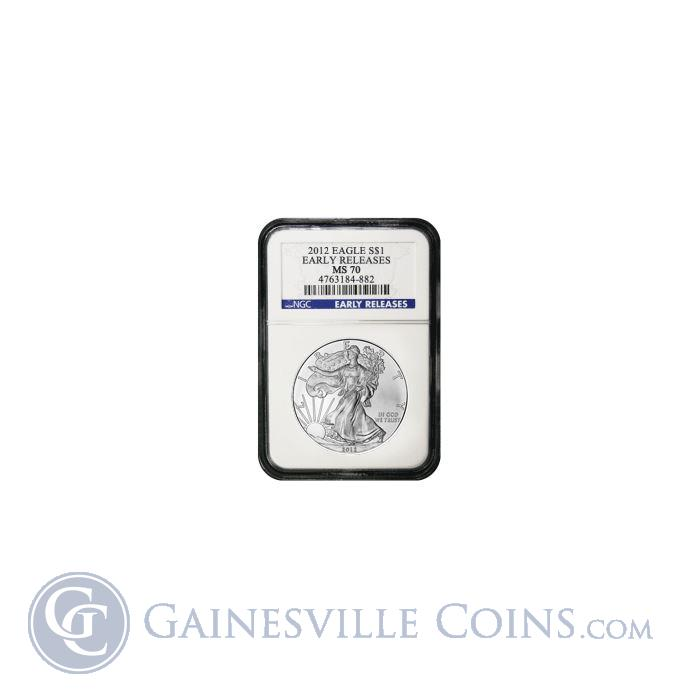 Image Showcase for 2012 Silver Eagle S$1 NGC MS70 Early Release