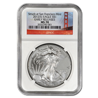 2012 Silver American Eagle: S Mint Bridge Label NGC MS70 Early Release
