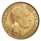 Colombia 5 Pesos Gold Coin (.2354 oz of Gold)