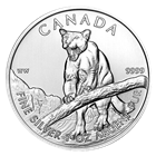 2012 1 oz Canadian Cougar Silver Coins: Wildlife Series (Milky or spotted)