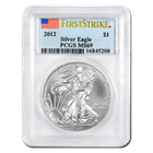 2012 1 oz Silver American Eagle MS-69 PCGS First Strike (Coins can either be San Francisco or West Point Struck)