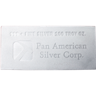 100 oz Silver Bar .999 Pure Silver - Generic