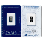 1 Gram PAMP/Credit Suisse Platinum Bar With Assay Certificate