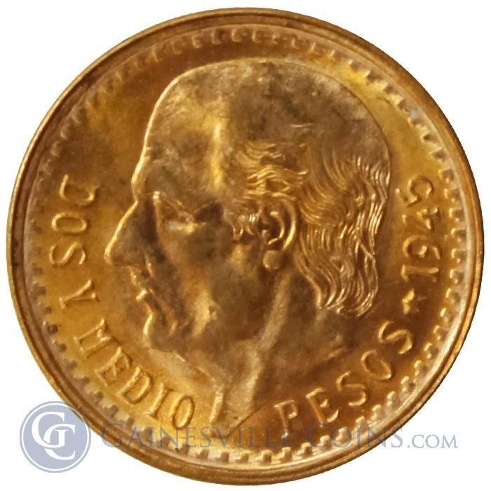 Image Showcase for Gold Mexican 2 1/2 Pesos - (.0603 oz Gold)