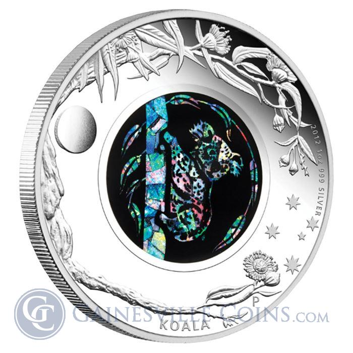 Image Showcase for 2012 1 oz Proof Silver Koala- Australian Opal Series