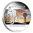 2012 1 oz Proof Silver Discover Australia - Red Kangaroo
