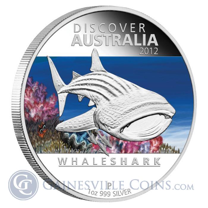 Image Showcase for 2012 1 oz Proof Silver Discover Australia - Whale Shark