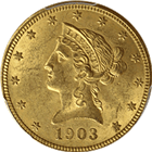 $5 Liberty Gold Half Eagle (About Uncirculated) - Random Date