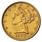 $5 Liberty Gold Half Eagle (CU) - Random Date