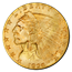 $2.5 Indian Gold Quarter Eagle (Uncirculated) - Random Date