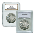 1878-1904 and 1921 Morgan Silver Dollars - MS62 NGC/PCGS