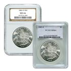 1878-1904 Morgan Silver Dollars - MS-64 NGC/PCGS