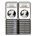 Set of Silver Eagle PF69 Ultra Cameo NGC 1986-2012 (2012 WILL BE EARLY RELEASE/FIRST RELEASE)**2009 date is not included in set**