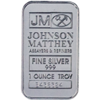 1 oz Johnson Matthey Silver Bar .999 Fine