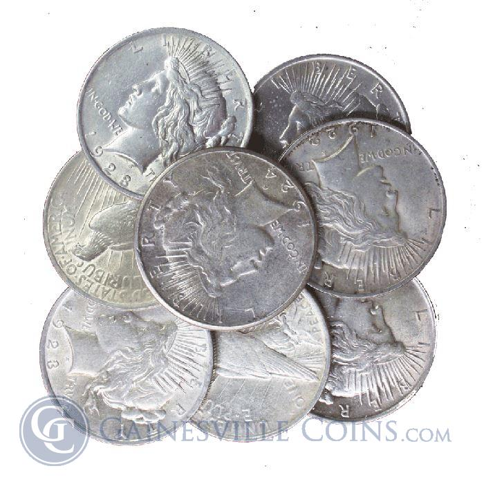 Image Showcase for Raw Peace Silver Dollar Extra Fine Common Date