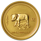 2007 1/10 oz Gold Year of the Pig Lunar Coin (Series  1)