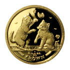 2004 Isle of Man 1/25 oz Gold Proof Cat Crown