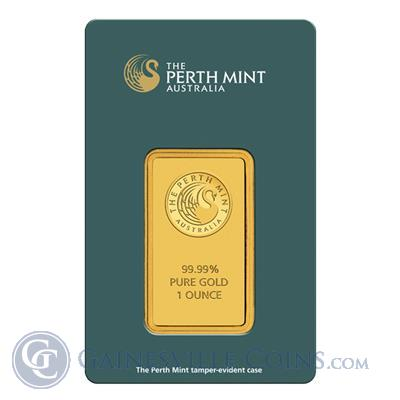 1 Oz Perth Mint Gold Bar In CertiCard Obverse
